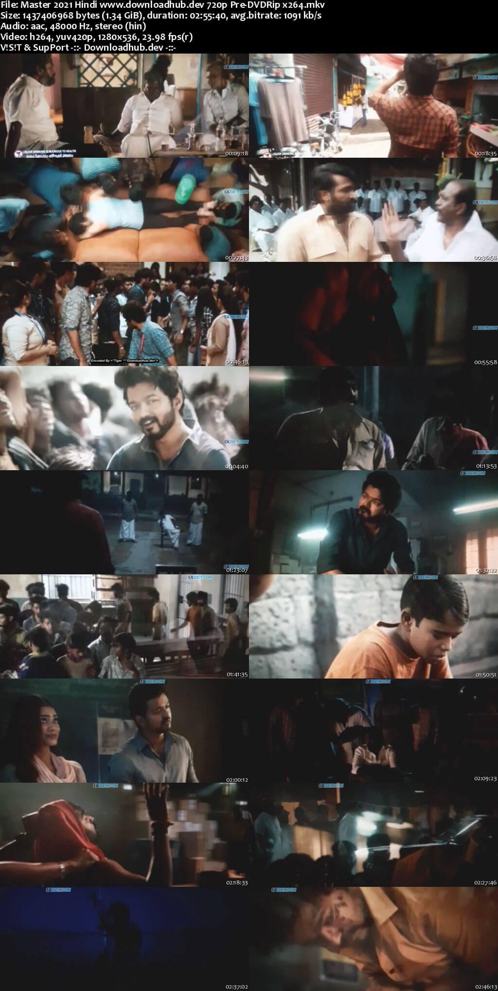 Master 2021 Hindi 720p 480p Pre-DVDRip x264