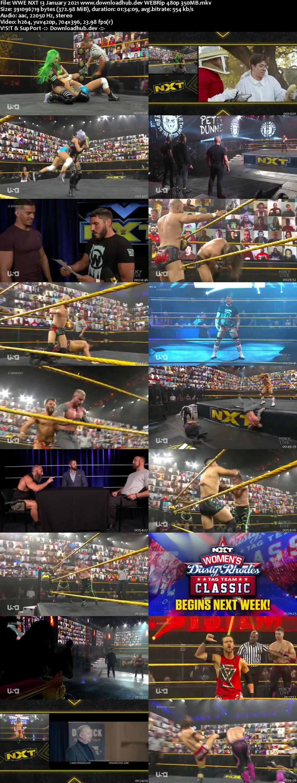 WWE NXT 13th January 2021 350MB HDTV 480p