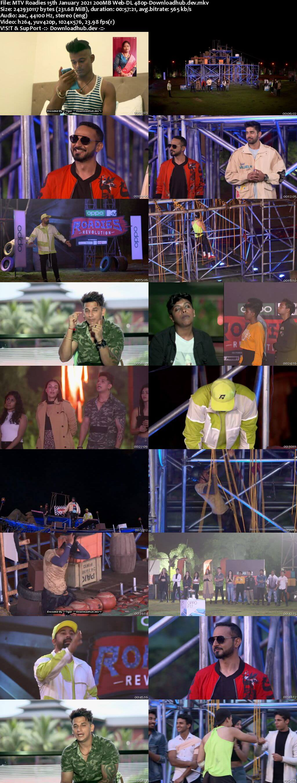 MTV Roadies 15th January 2021 200MB Web-DL 480p