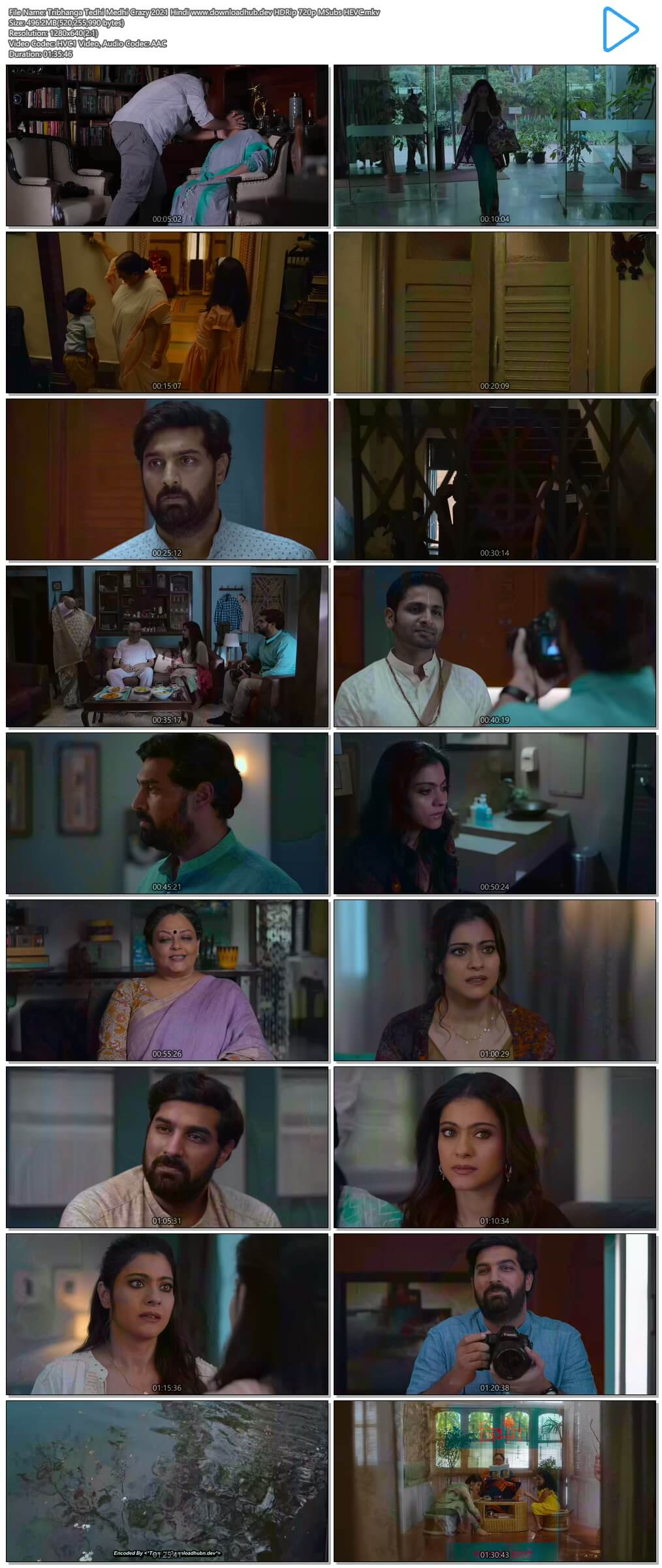 Tribhanga Tedhi Medhi Crazy 2021 Hindi 500MB HDRip 720p MSubs HEVC
