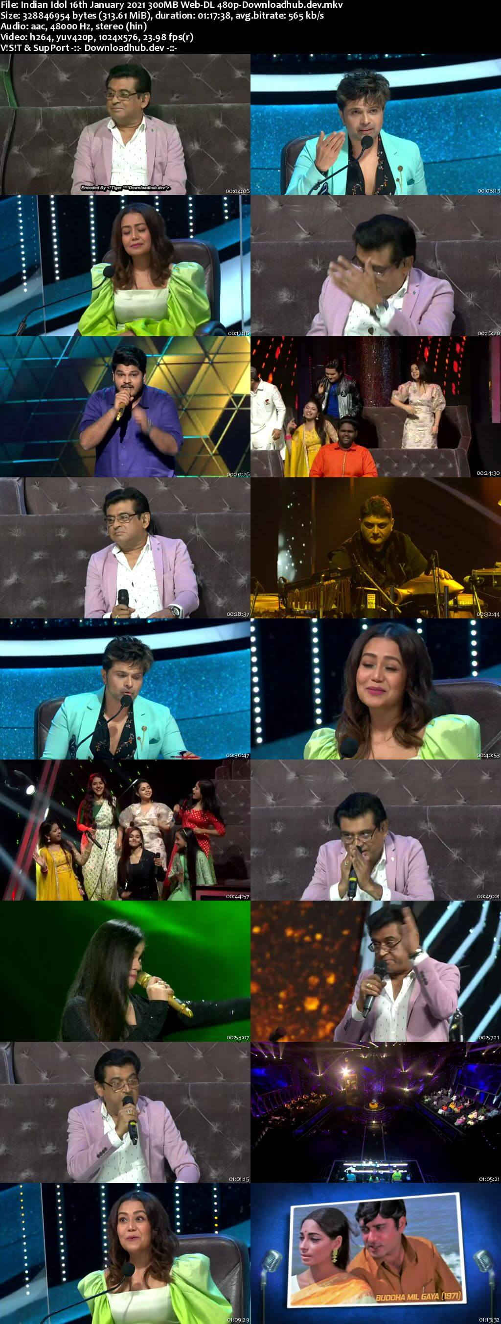 Indian Idol 16 January 2021 Episode 15 Web-DL 480p