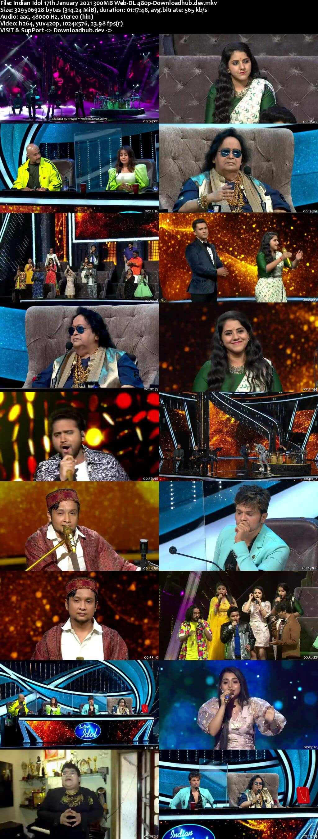Indian Idol 17 January 2021 Episode 16 Web-DL 480p