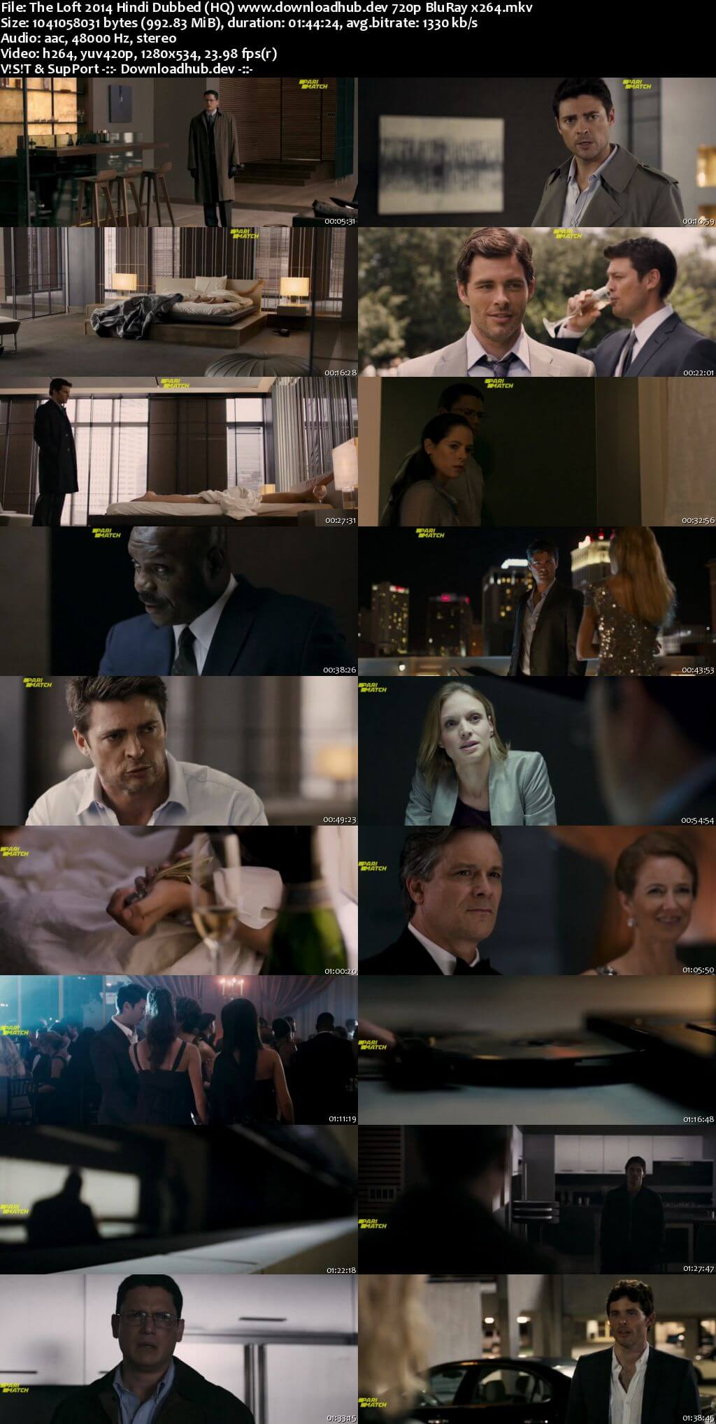 The Loft 2014 Hindi Dubbed (HQ) 720p BluRay x264