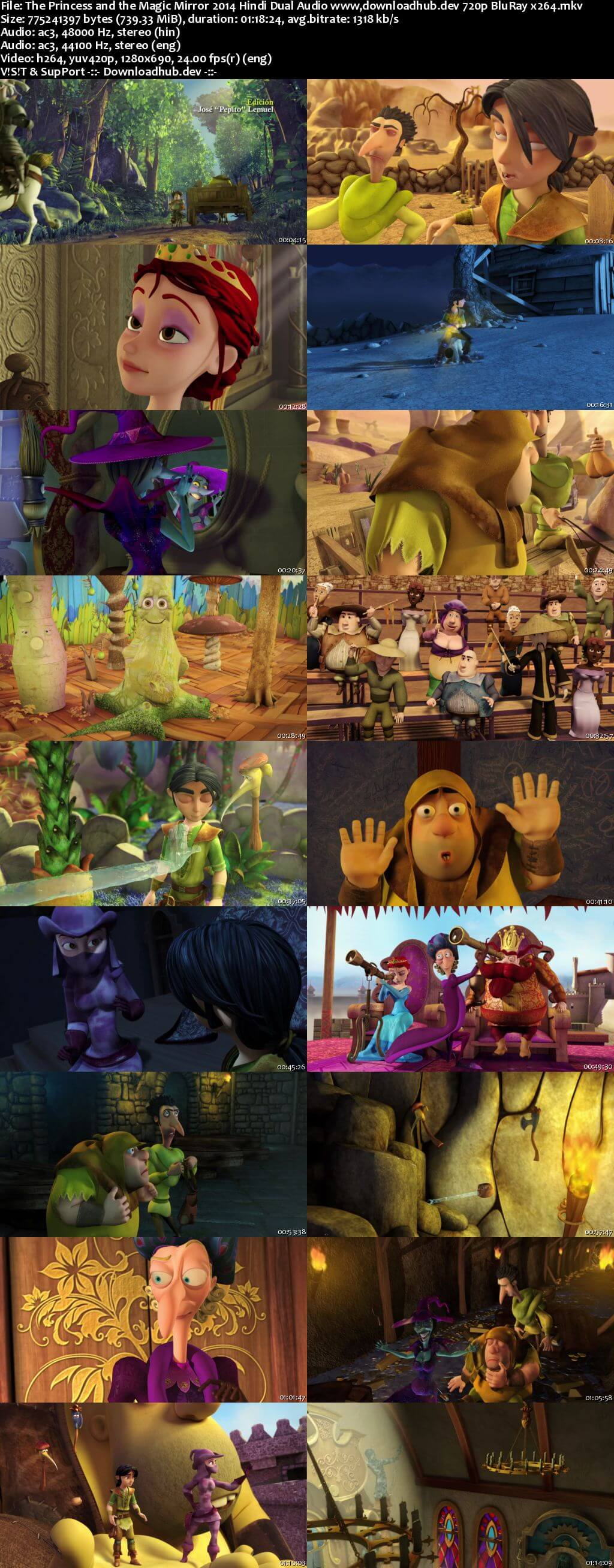 The Princess and the Magic Mirror 2014 Hindi Dual Audio 720p BluRay x264