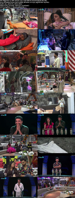 Bigg Boss 14 18th January 2021 Episode 107 720p 480p Web-DL
