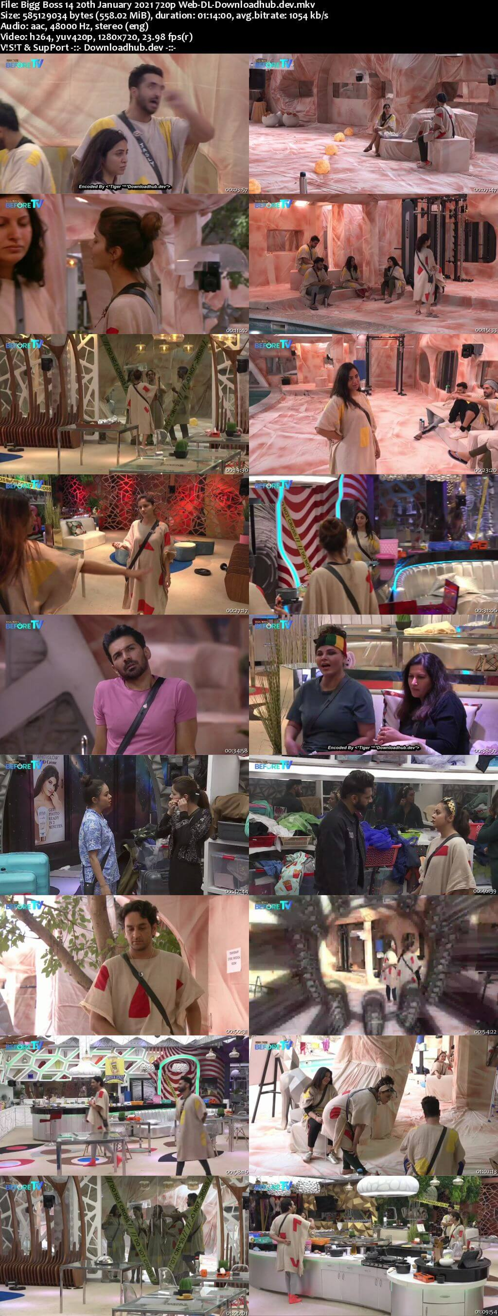 Bigg Boss 14 20th January 2021 Episode 109 720p 480p Web-DL