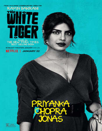 The White Tiger 2021 Hindi 650MB HDRip 720p MSubs HEVC