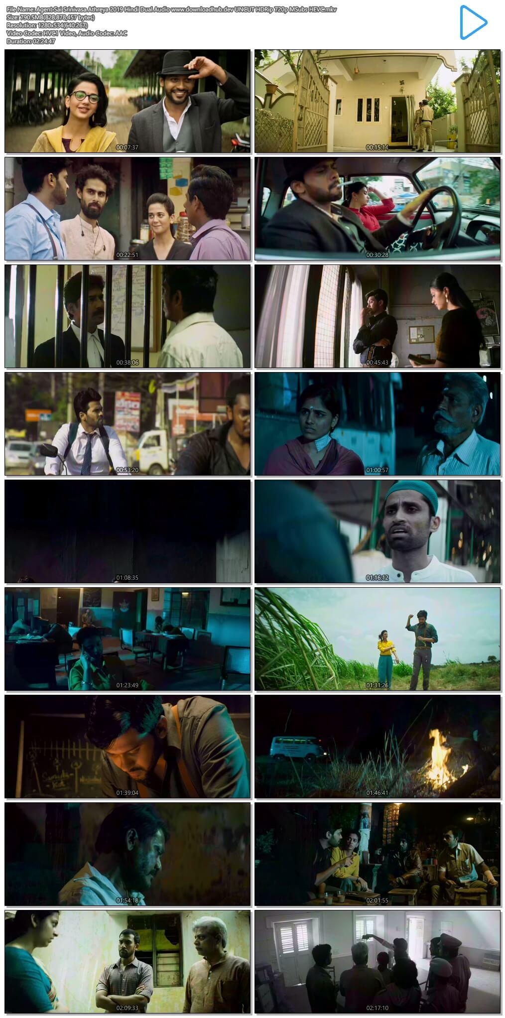 Agent Sai Srinivasa Athreya 2019 Hindi Dual Audio 750MB UNCUT HDRip 720p MSubs HEVC