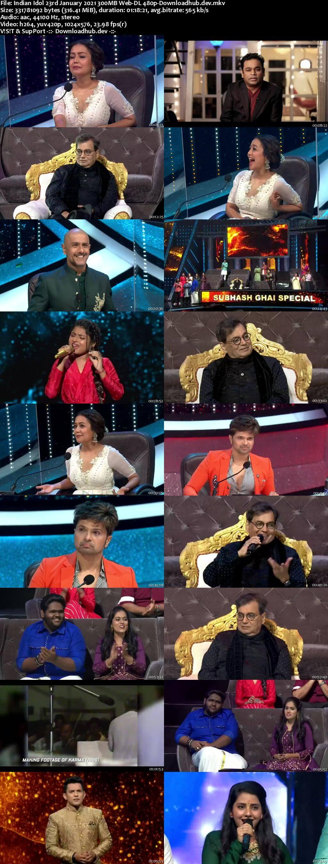 Indian Idol 23 January 2021 Episode 17 Web-DL 480p