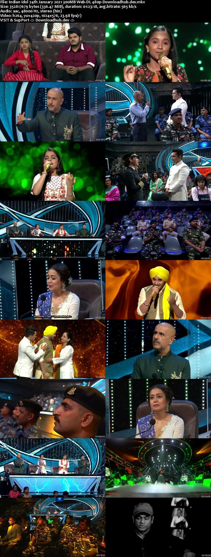 Indian Idol 24 January 2021 Episode 18 Web-DL 480p