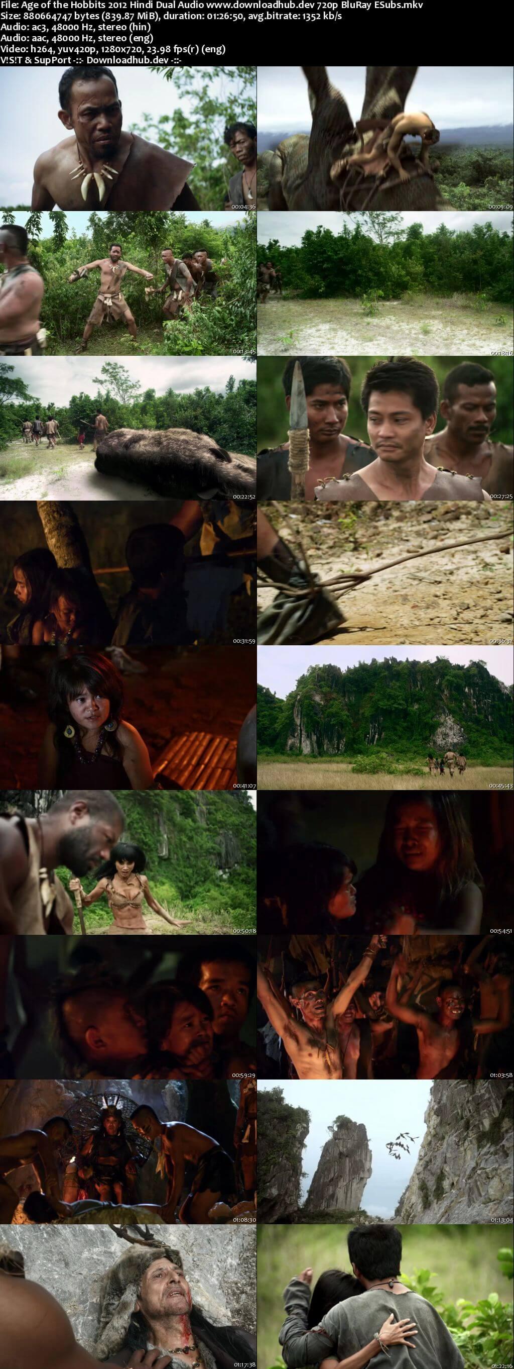 Age of the Hobbits 2012 Hindi Dual Audio 720p BluRay ESubs