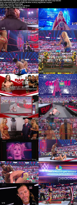 WWE Monday Night Raw 25th January 2021 720p 500MB HDTVRip 480p