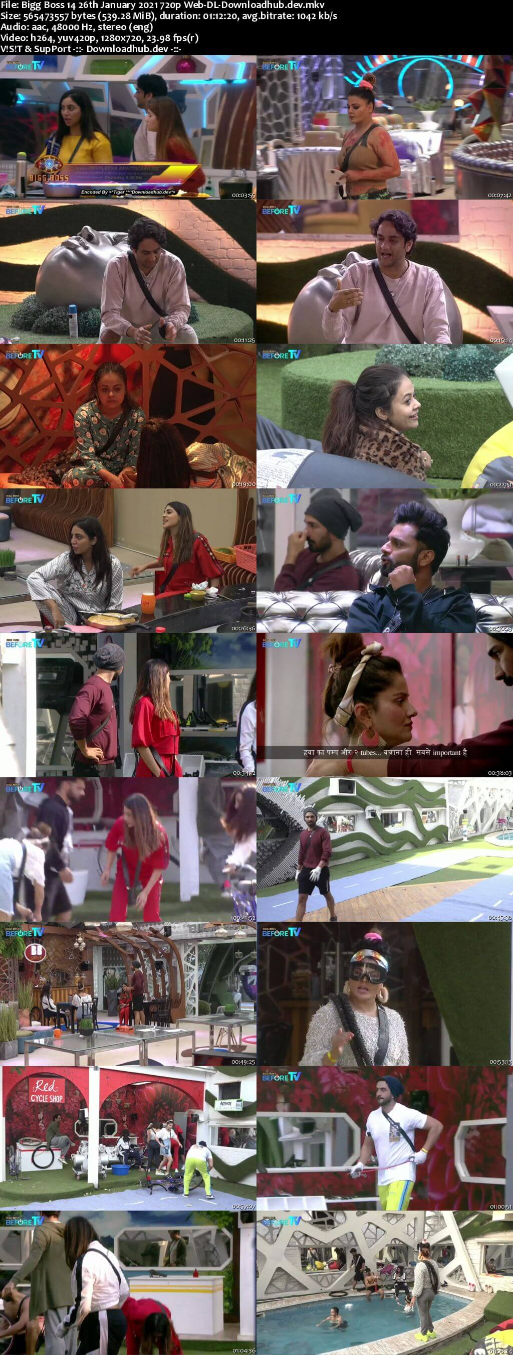 Bigg Boss 14 26th January 2021 Episode 115 720p 480p Web-DL