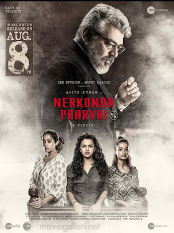 Nerkonda Paarvai 2019 UNCUT Dual Audio Hindi 480p HDRip 450MB