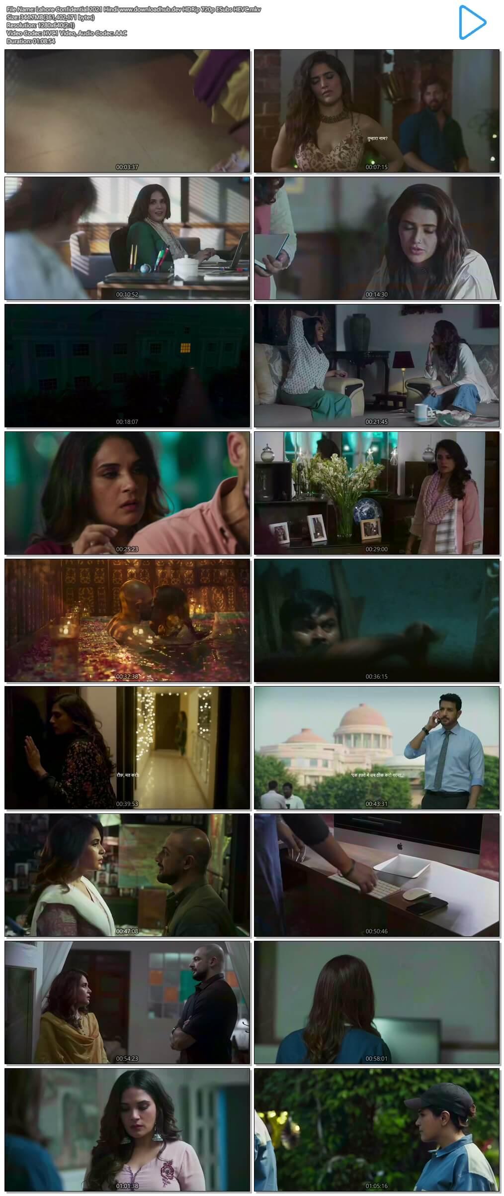Lahore Confidential 2021 Hindi 350MB HDRip 720p ESubs HEVC