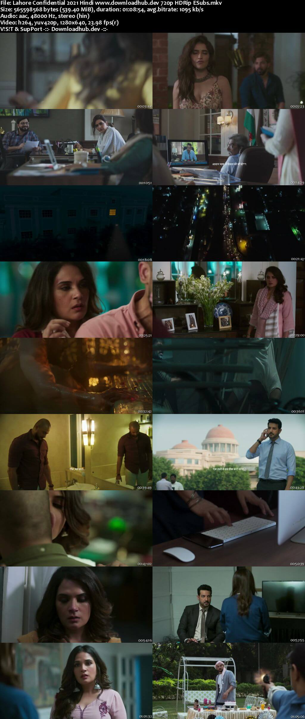 Lahore Confidential 2021 Hindi 720p HDRip ESubs