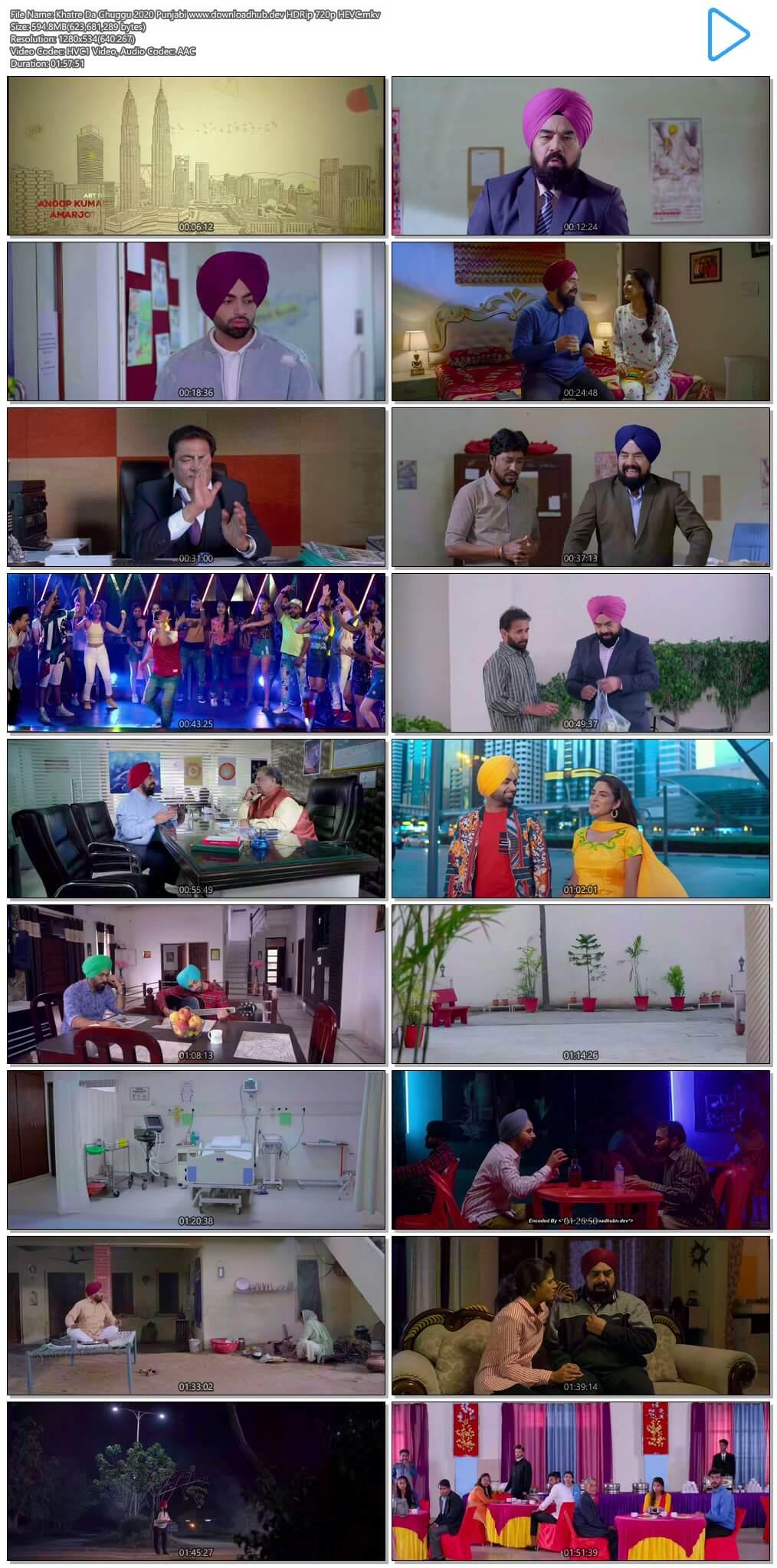 Khatre Da Ghuggu 2020 Punjabi 600MB HDRip 720p HEVC