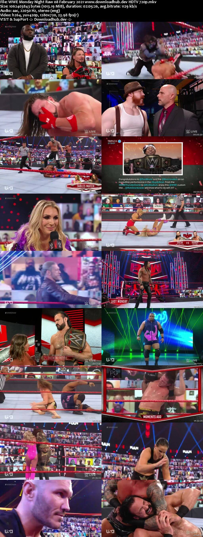WWE Monday Night Raw 8th February 2021 720p 500MB HDTVRip 480p