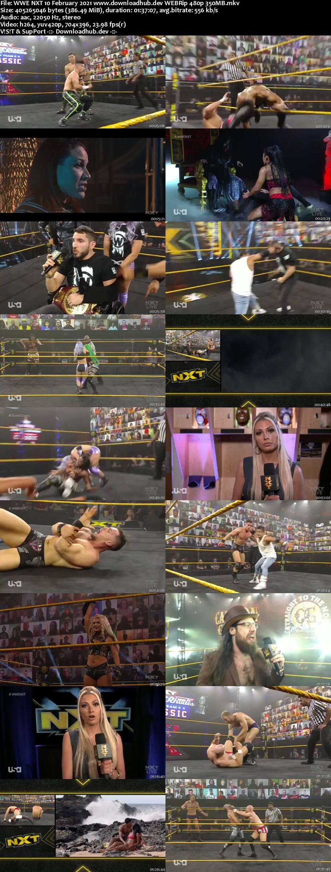 WWE NXT 10th February 2021 350MB HDTV 480p