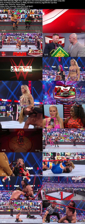 WWE Monday Night Raw 15th February 2021 720p 500MB HDTVRip 480p