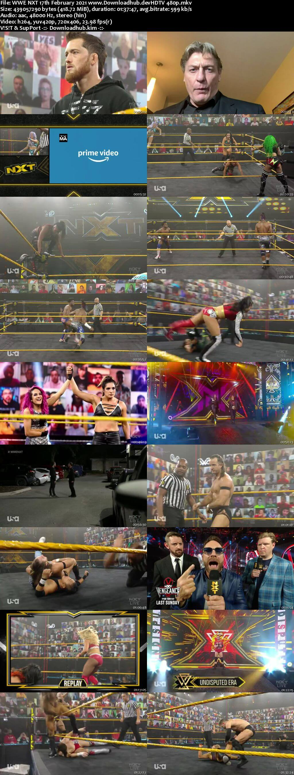 WWE NXT 17th February 2021 400MB HDTV 480p