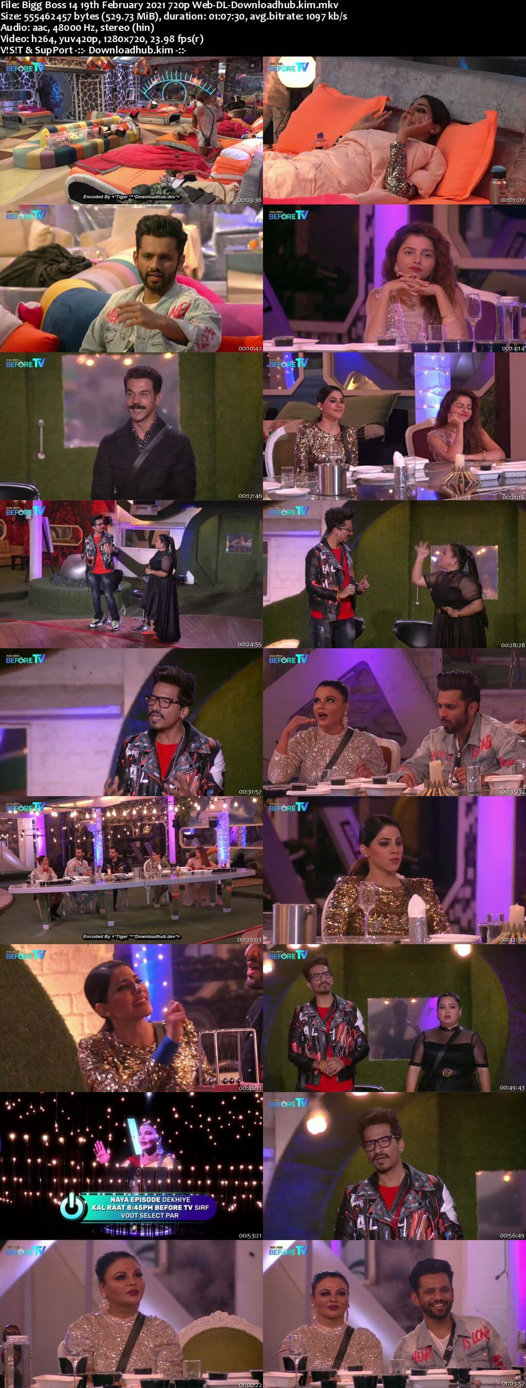 Bigg Boss 14 19th February 2021 Episode 139 720p 480p Web-DL