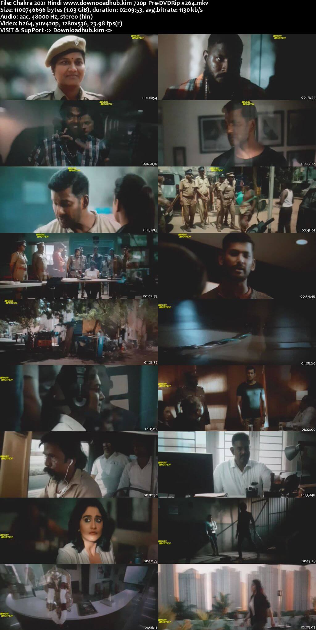 Chakra 2021 Hindi 720p 480p Pre-DVDRip x264