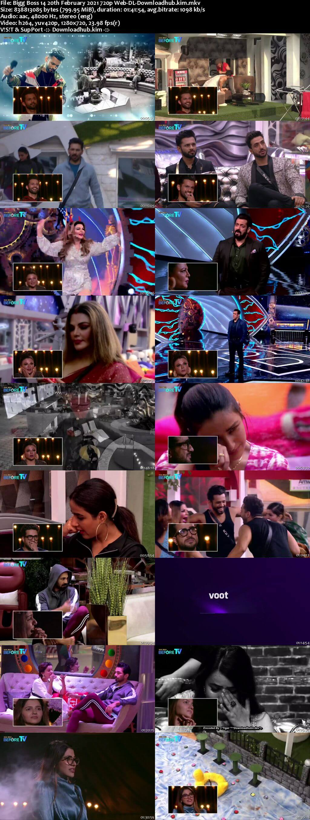 Bigg Boss 14 20th February 2021 Episode 140 720p 480p Web-DL