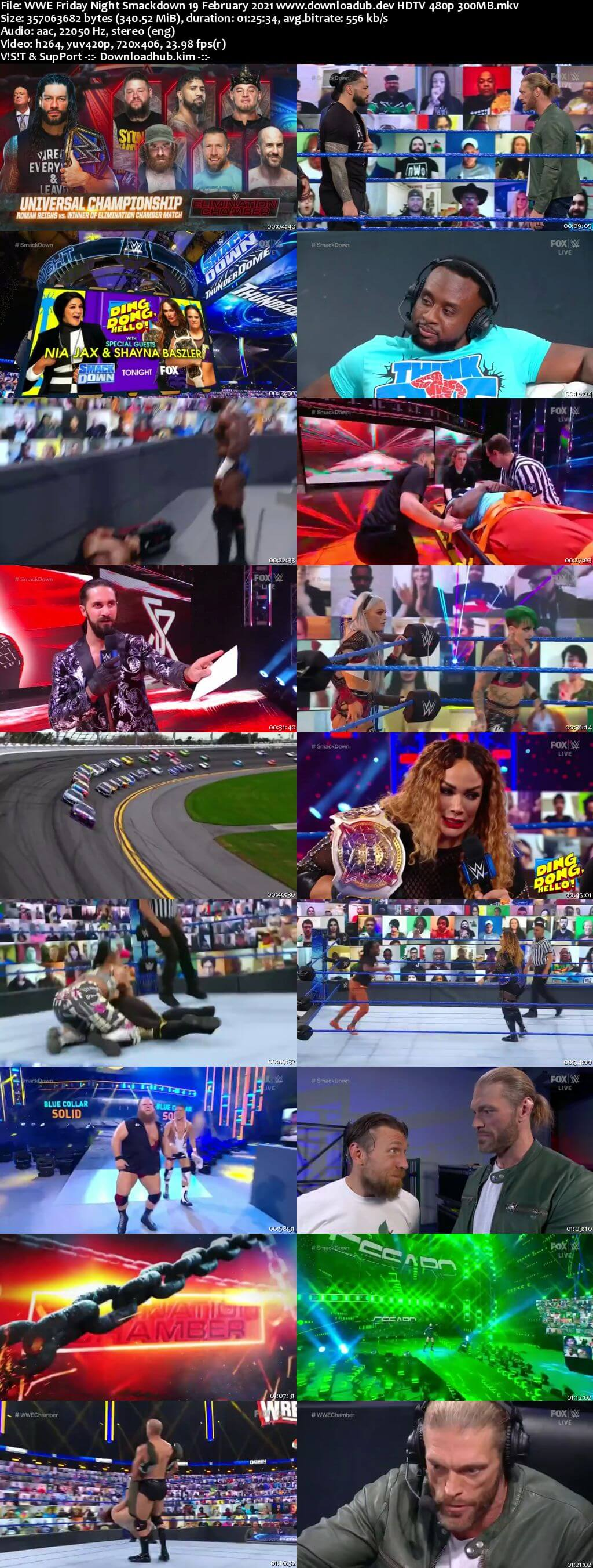 WWE Friday Night Smackdown 19th February 2021 720p 300MB HDTV 480p