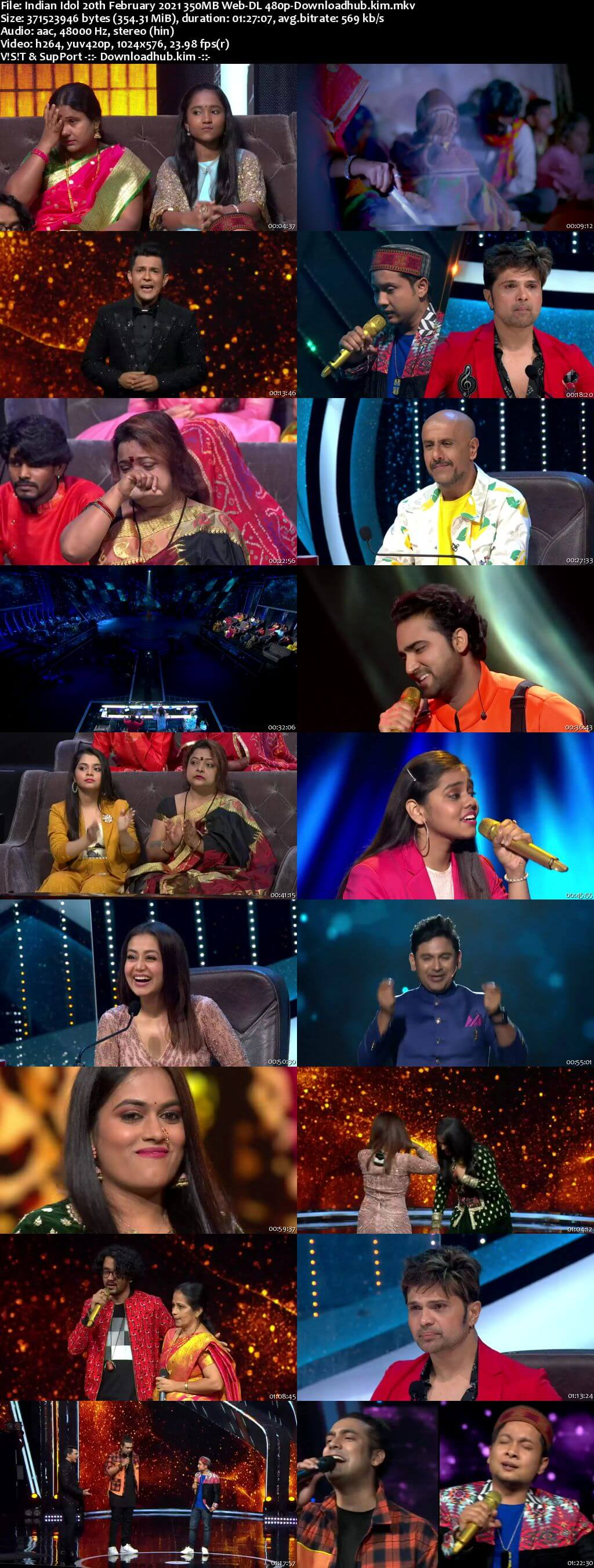Indian Idol 20 February 2021 Episode 25 Web-DL 480p