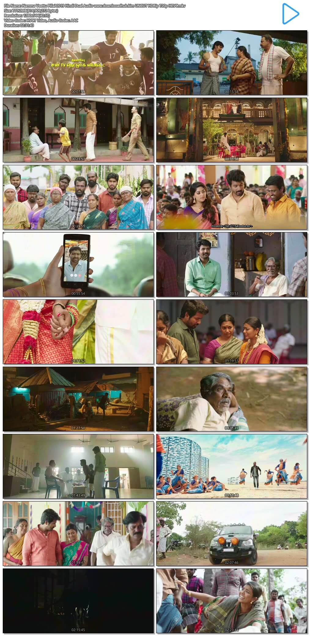 Namma Veettu Pillai 2019 Hindi Dual Audio 750MB UNCUT HDRip 720p HEVC