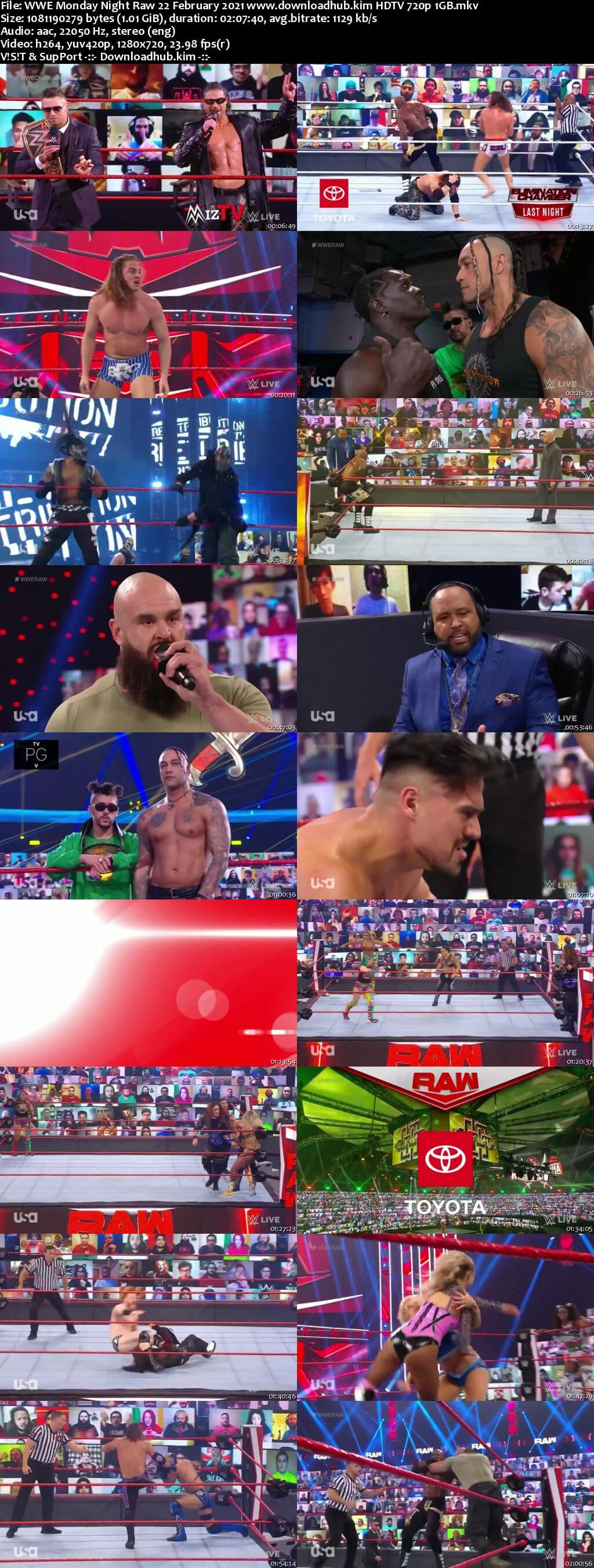 WWE Monday Night Raw 22nd February 2021 720p 500MB HDTVRip 480p