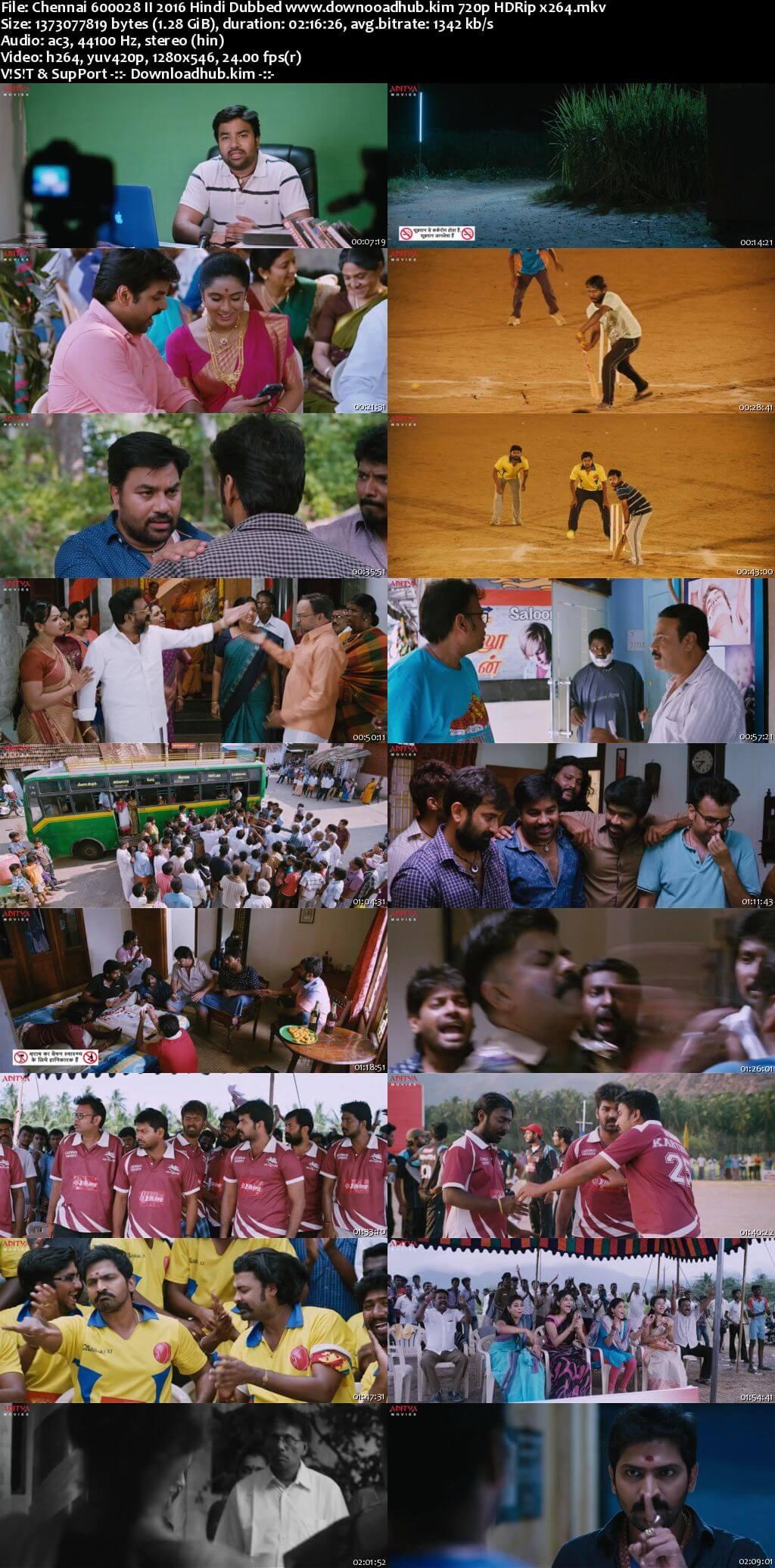 Chennai 600028 II 2016 Hindi Dubbed 720p HDRip x264