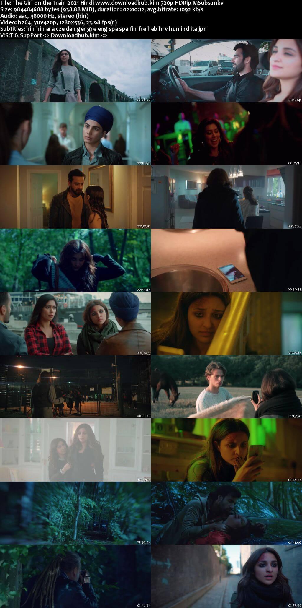 The Girl on the Train 2021 Hindi 720p HDRip MSubs