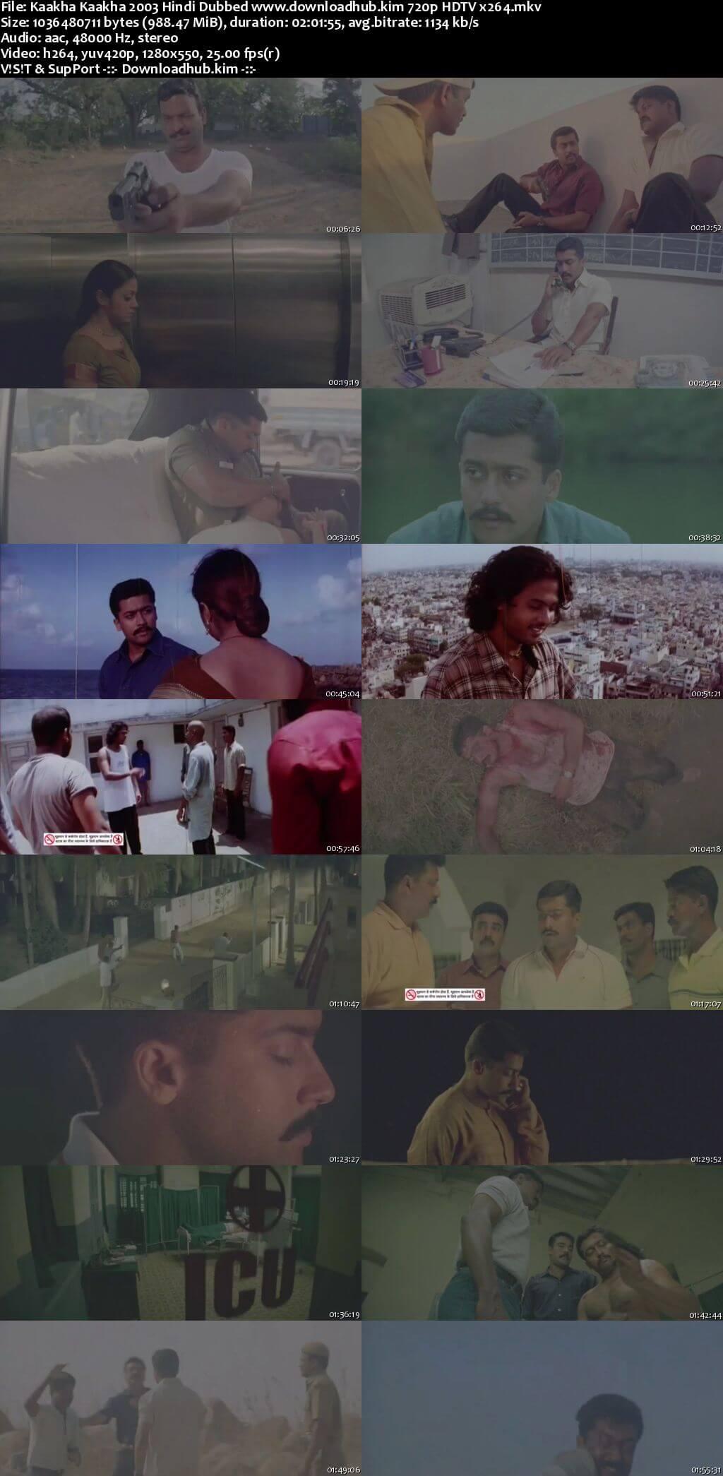 Kaakha Kaakha 2003 Hindi Dubbed 720p HDTV x264