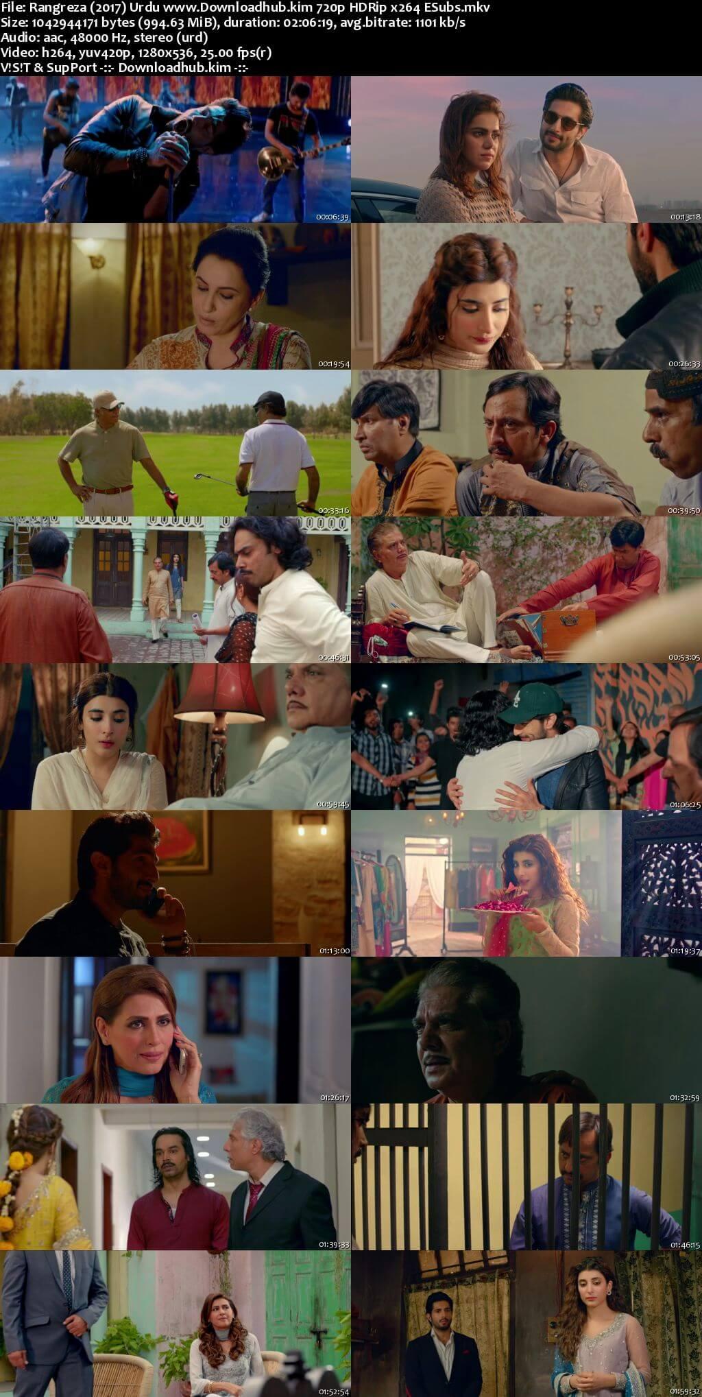 Rangreza 2017 Urdu 720p HDRip ESubs