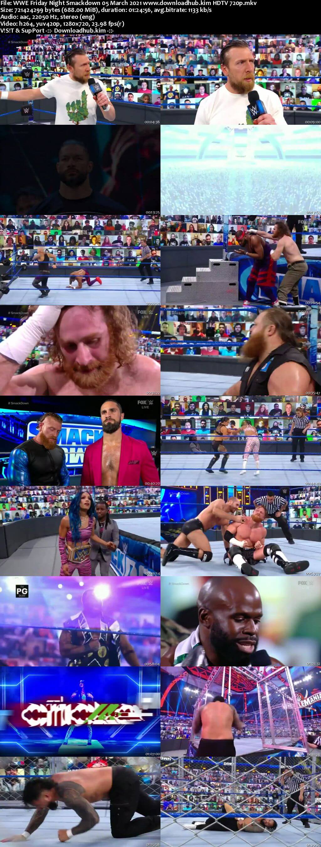 WWE Friday Night Smackdown 5th March 2021 720p 300MB HDTV 480p