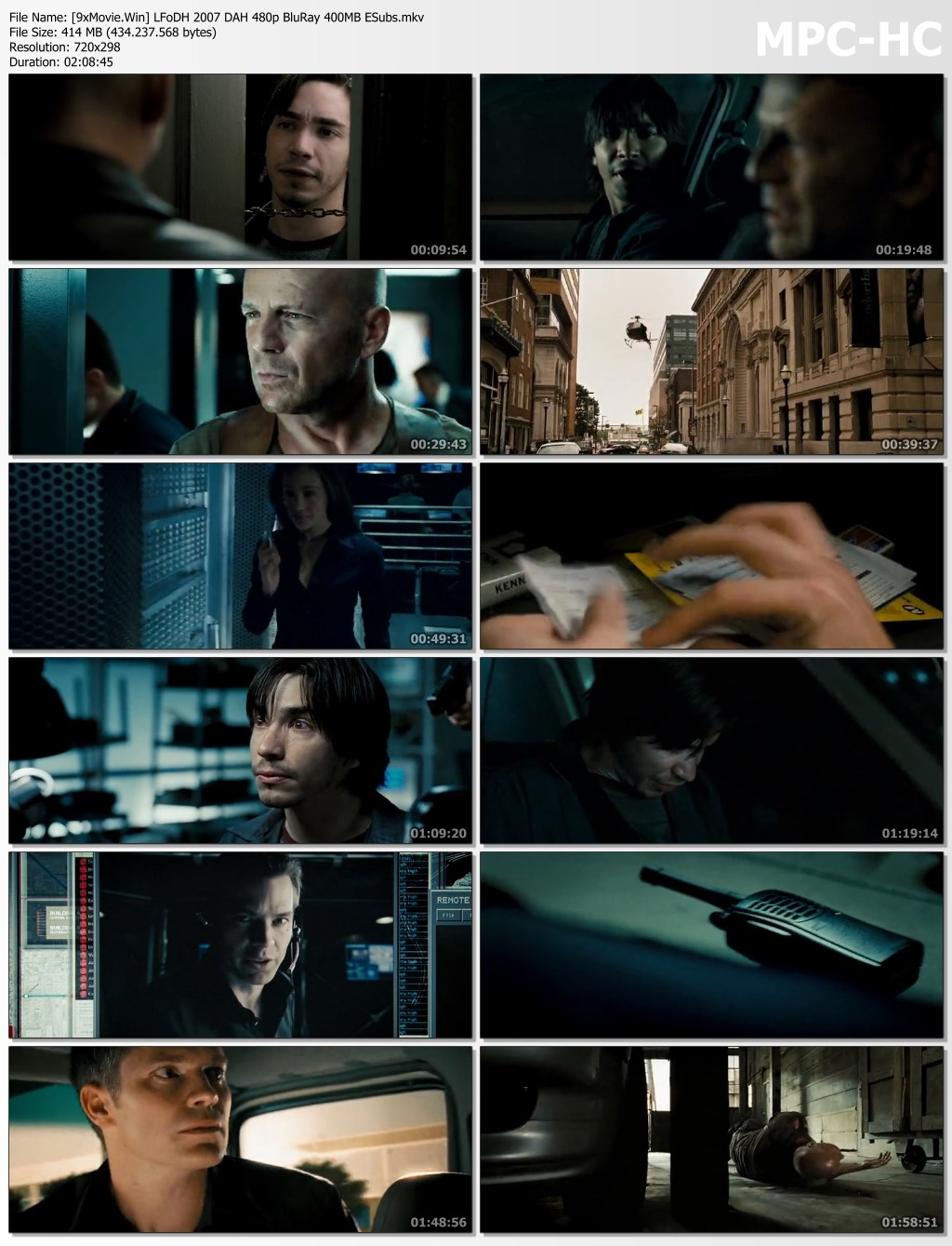 Live Free or Die Hard 2007 Dual Audio Hindi 480p BluRay x264 400MB ESubs