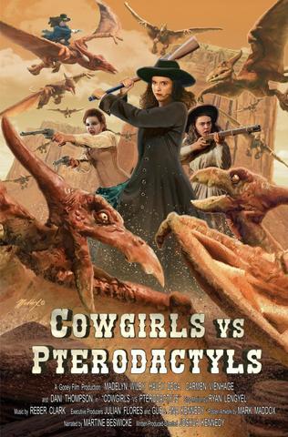 Cowgirls vs. Pterodactyls 2021 Dual Audio Hindi (Fan Dub) 480p WEB-DL x264 300MB