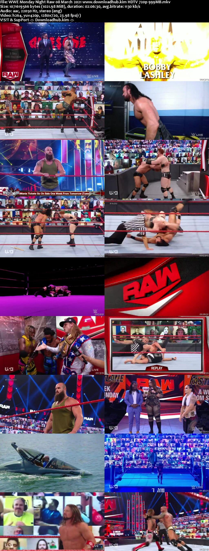 WWE Monday Night Raw 8th March 2021 720p 500MB HDTVRip 480p