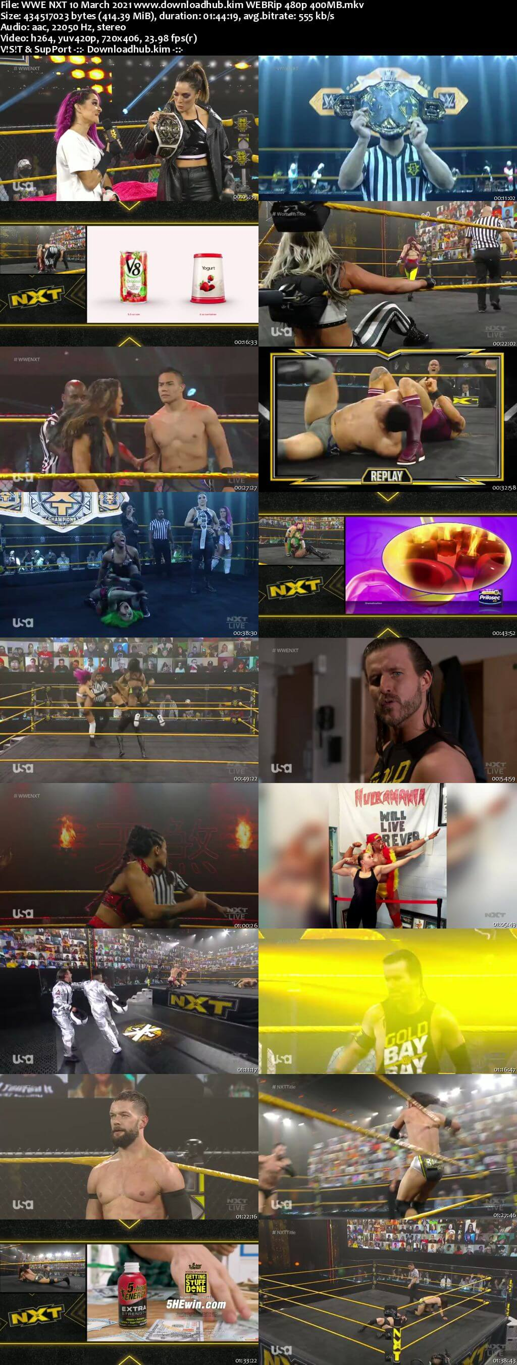 WWE NXT 10th March 2021 400MB HDTV 480p