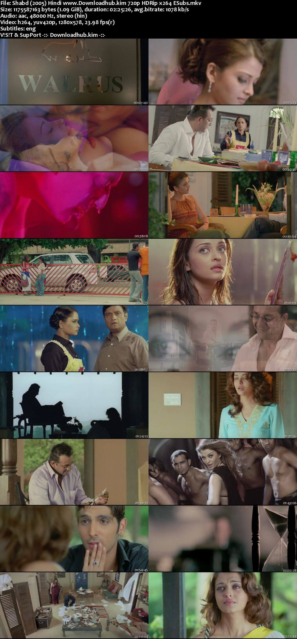Shabd 2005 Hindi 720p HDRip ESubs