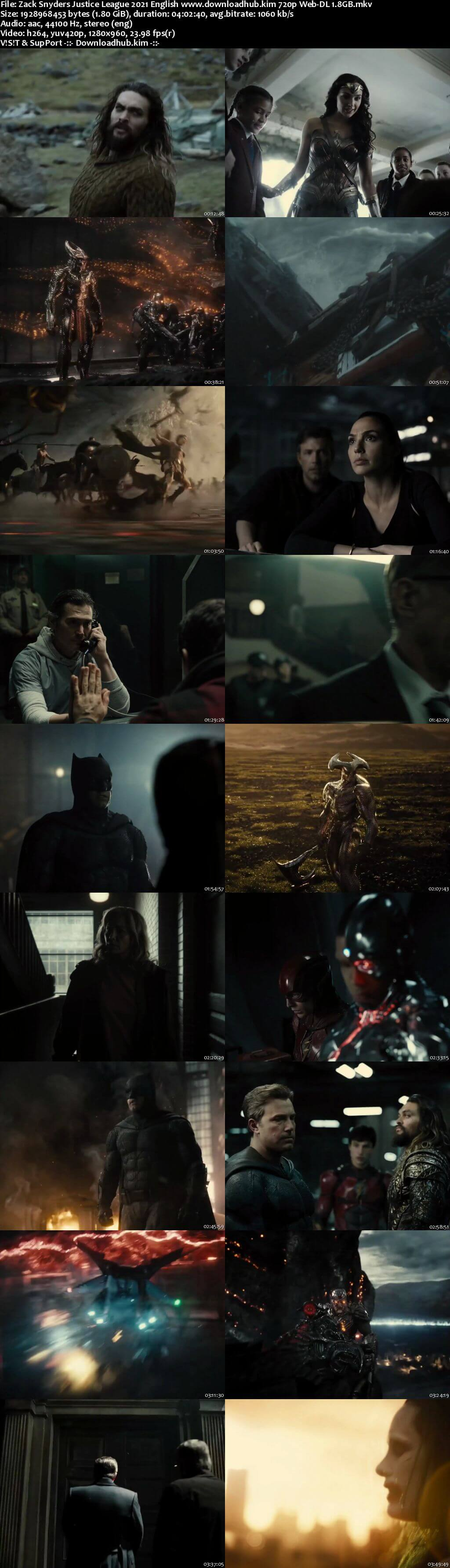 Zack Snyders Justice League 2021 English 720p Web-DL 1.8GB