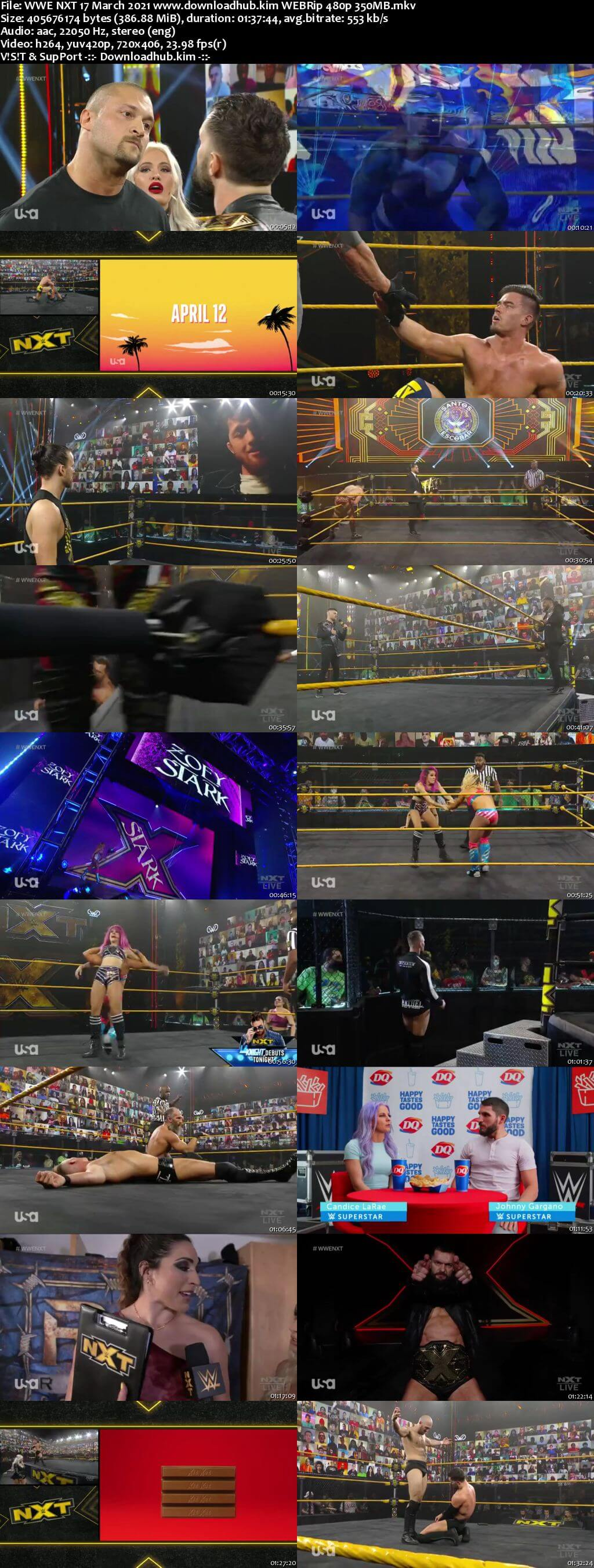 WWE NXT 17th March 2021 400MB HDTV 480p