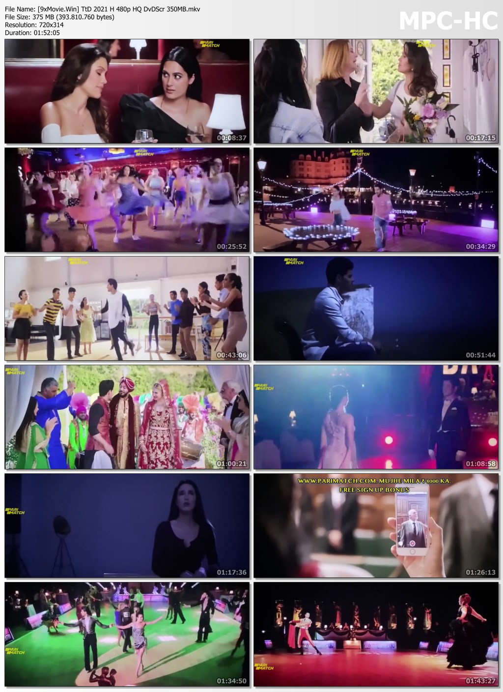 Time to Dance 2021 Hindi 480p HQ DvDScr x264 350MB