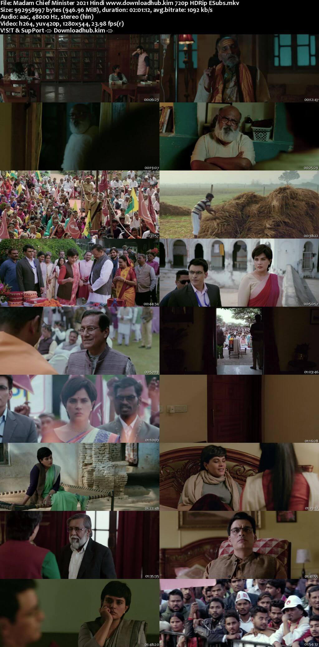 Madam Chief Minister 2021 Hindi 720p HDRip ESubs