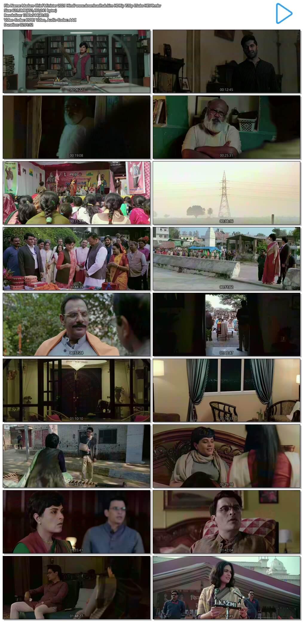 Madam Chief Minister 2021 Hindi 600MB HDRip 720p ESubs HEVC