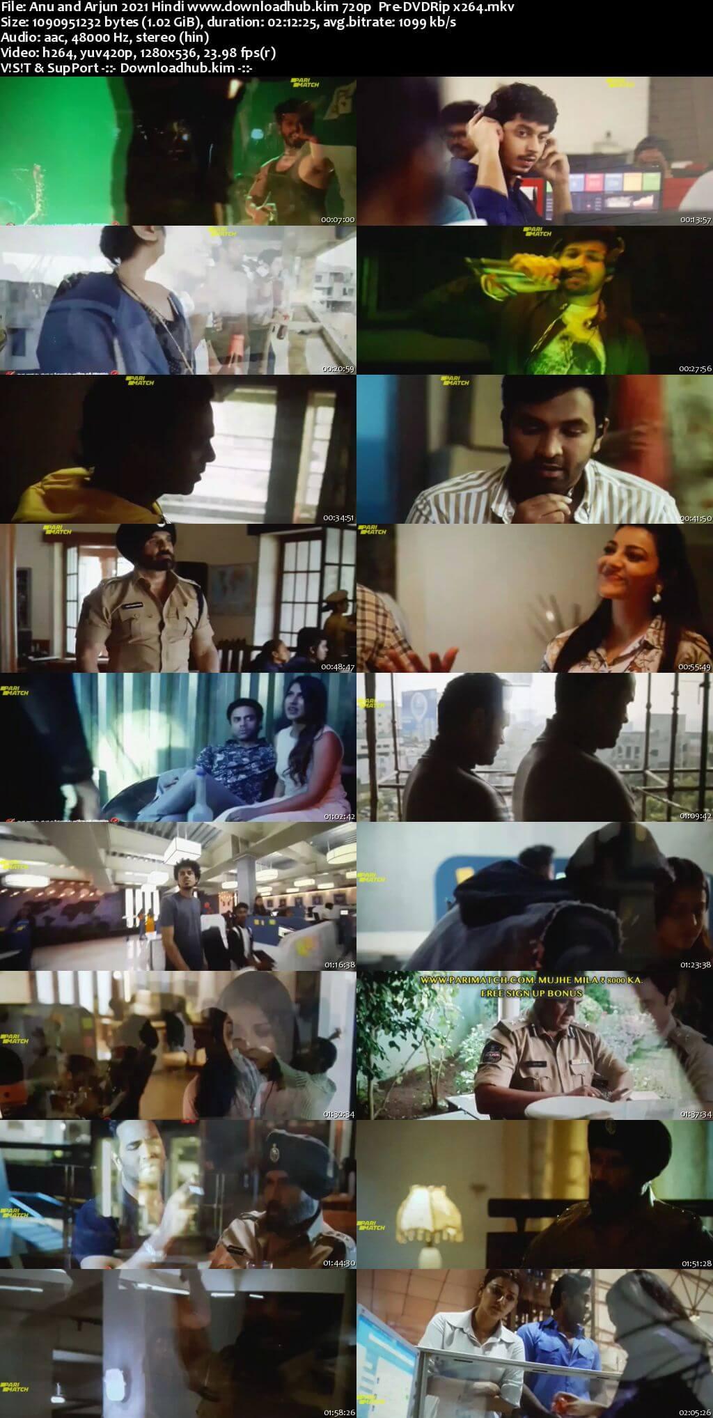 Anu and Arjun 2021 Hindi 720p 480p Pre-DVDRip x264