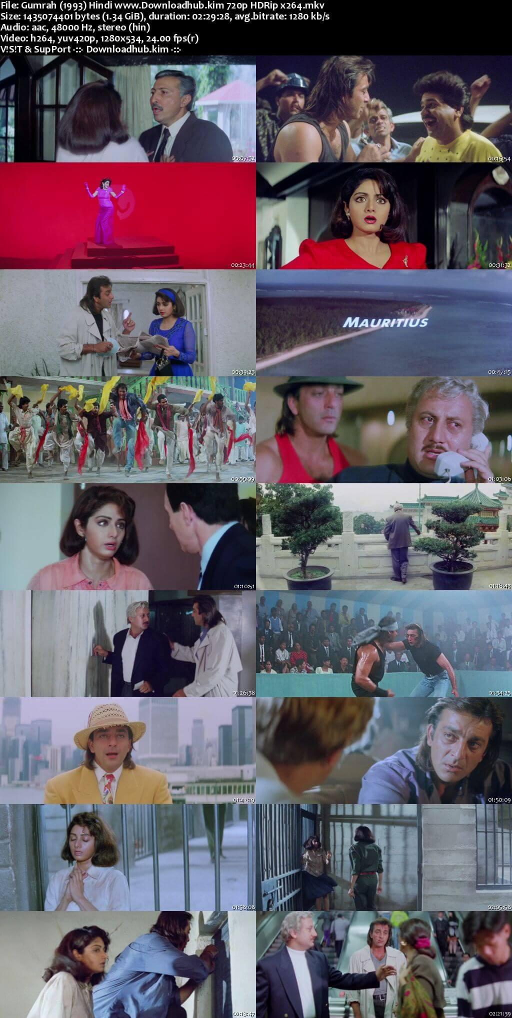 Gumrah 1993 Hindi 720p HDRip x264