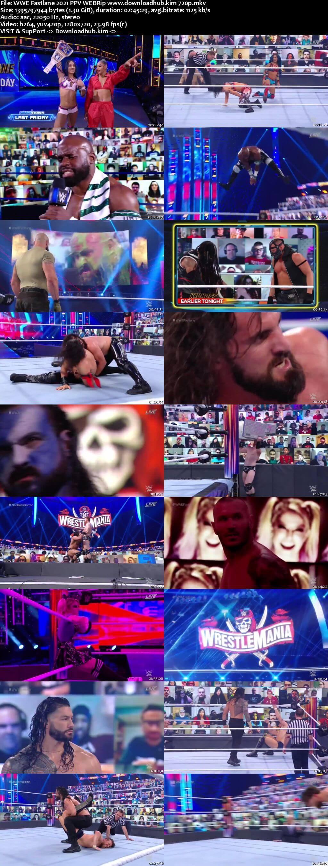 WWE Fastlane 21st March 2021 720p 600MB PPV WEBRip 480p